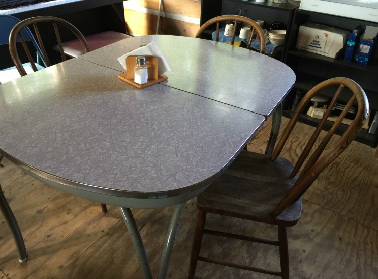 Grandma Stella Johnson's awesome Formica table and wooden chairs | Jane Boursaw Photo