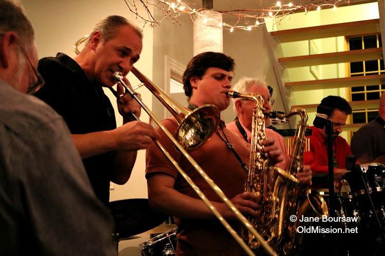 Jankowski House Party 2015: (from right) Mike Davis, Myles Boothroyd | Jane Boursaw Photo
