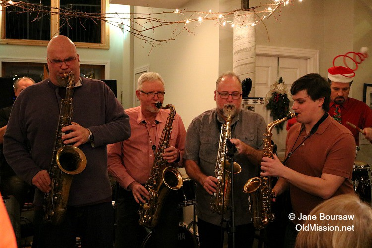 Jankowski House Party 2015: (from right) Myles Boothroyd, Al Jankowski, Mike Davis | Jane Boursaw Photo