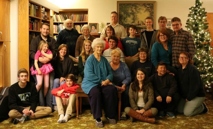 The Johnson Clan at Mary Johnson's 91st Birthday Party | Jane Boursaw Photo
