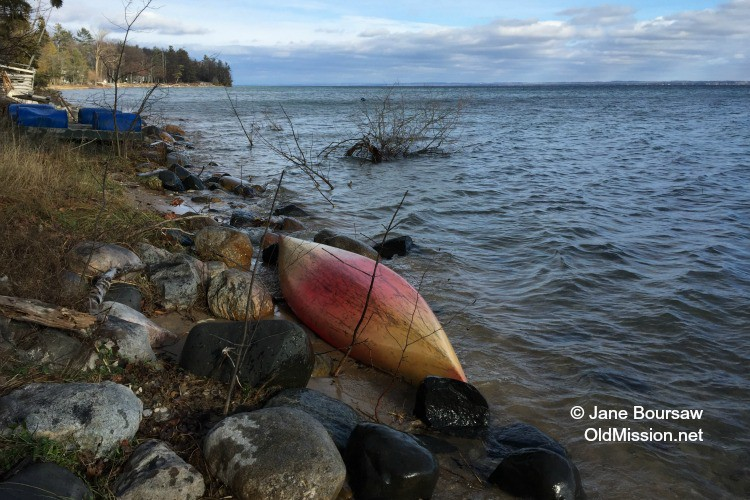 The other kayak, washed offshore, but not out to sea | Jane Boursaw Photo