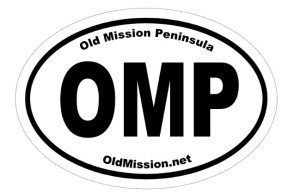 Old Mission Peninsula Oval Bumper Sticker