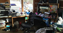 #RealityWednesday – Jane's Messy Desk, Taxes and Stress-Crying