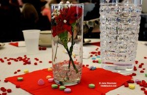 Lovely Valentine's Day tabletops at Old Mission Women's Club | Jane Boursaw Photo