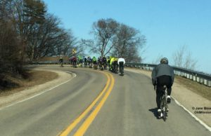 Bicyclists on Bluff Road