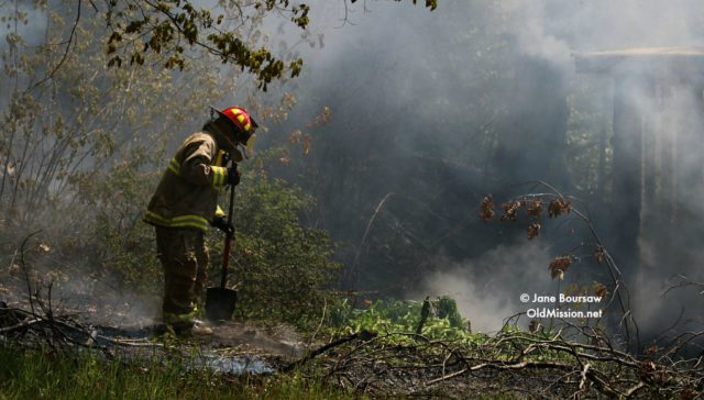 Fire at Neahtawanta and Kroupa Roads