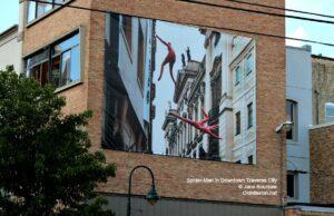 spider-man, traverse city, downtown traverse city
