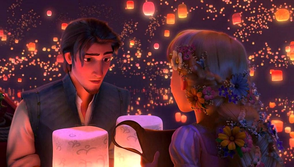 tangled, chinese lanterns