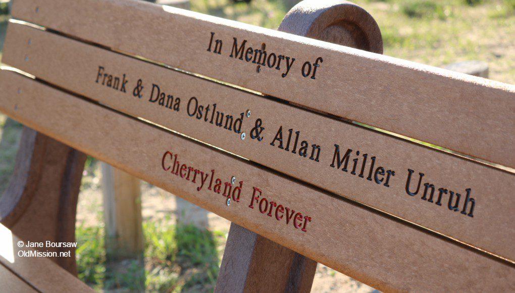 ostlund, memorial bench, jerry ostlund