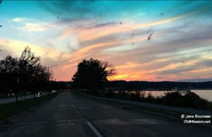 parkway, traverse city, dairy lodge, sunset