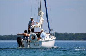 pat sharpnack, deb lange, boat, east bay, sailboat, neighbors