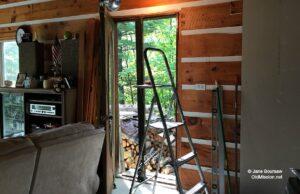 wood stove, door, winter,