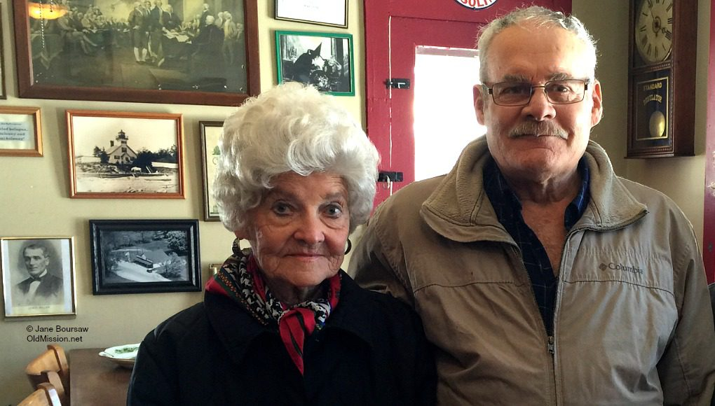 marjorie andrus, mark andrus, mission point lighthouse, old mission general store