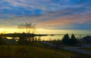 sunset, west bay