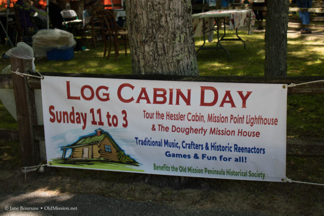 mission point lighthouse, old mission peninsula, log cabin day, hessler log home, dougherty house, nancy heller, teri johnson, vicki shurly, brendan keenan