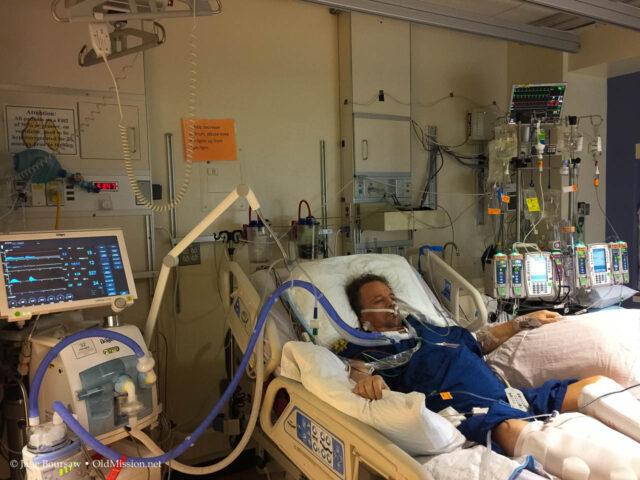 aneurysm, tim boursaw, u of m hospital icu, old mission peninsula, old mission michigan, ann arbor, u of m hospital,