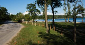 haserot beach, fence, old mission, old mission michigan, old mission peninsula, park commission, old mission gazette