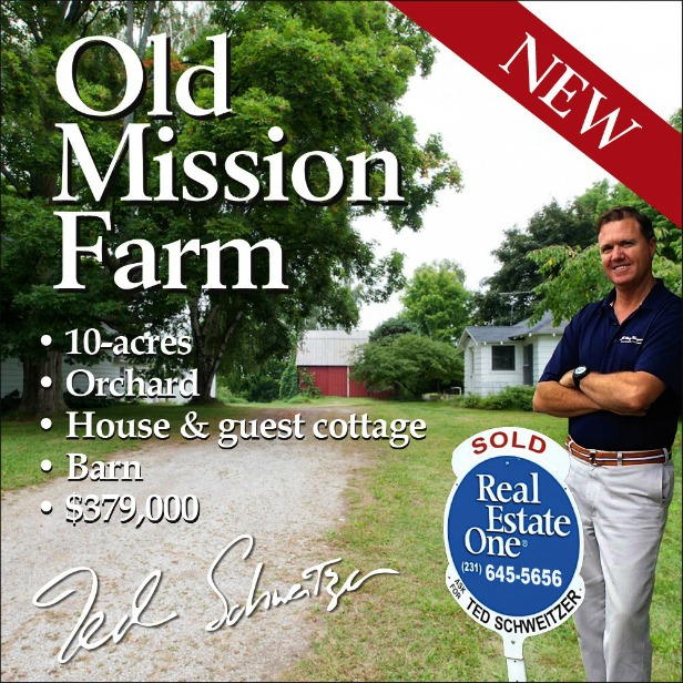 Ted Schweitzer, Real Estate One, Old Mission Peninsula Real Estate, Old Mission Peninsula, Old Mission, Old Mission Michigan, Old Mission Gazette