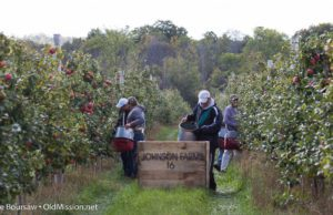 walter johnson, mary johnson, johnson farms, the 40, apples, old mission peninsula, stella johnson, lester johnson, old mission, old mission michigan, old mission gazette, peninsula township, apple pickers