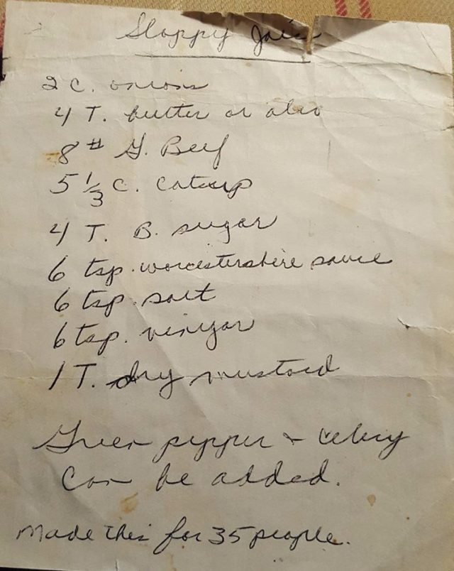 jo brown, sloppy joe recipe, ompumc, omps, old mission peninsula school, old mission peninsula united methodist church, old mission peninsula, old mission, old mission michigan, peninsula township