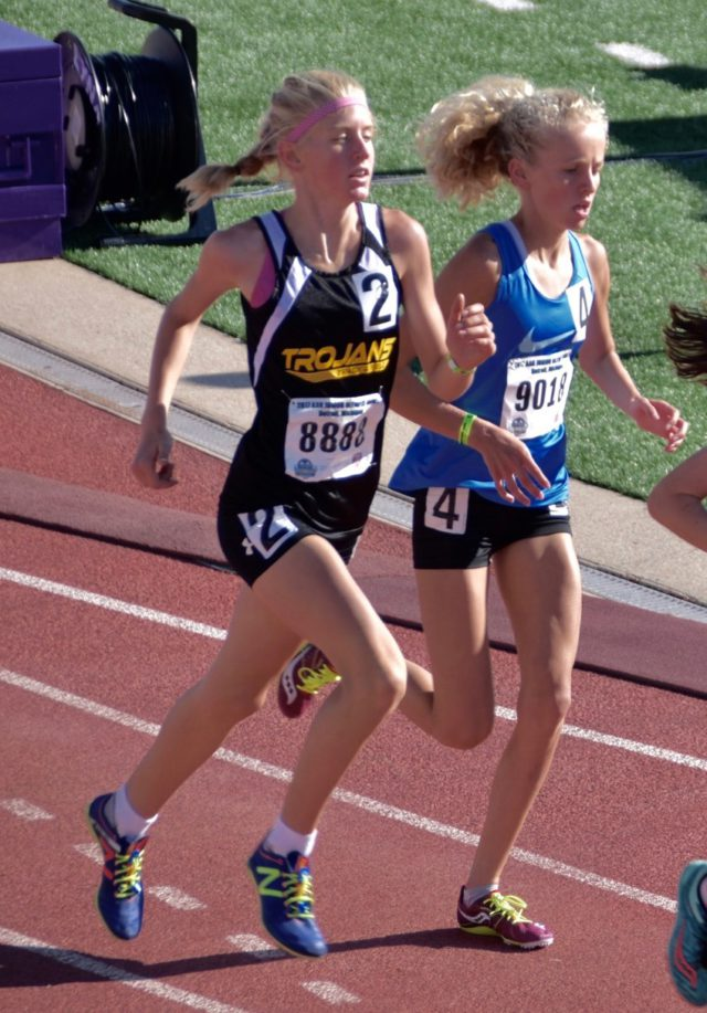 omps, old mission peninsula school, julia flynn, junior olympics, gold medal, runner, patrick flynn, theresa flynn, old mission peninsula, old mission, old mission michigan, peninsula township, girls on the run, track and field, east middle school, old mission gazette, AAU junior olympics