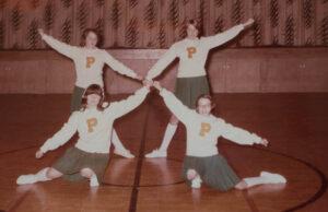 old mission peninsula school, omps, cheerleaders, 1960s, old mission peninsula, old mission, old mission michigan, peninsula township, old mission history, old mission gazette