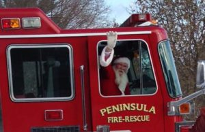 santa, old mission peninsula united methodist church, ompumc, peninsula township fire department, old mission peninsula, old mission, old mission michigan, peninsula township, old mission gazette, old mission news