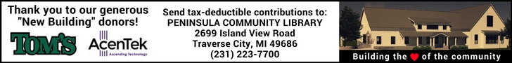 PCL, Peninsula Community Library, Old Mission Peninsula, Old Mission, Old Mission Michigan, Peninsula Township, Library, Old Mission Gazette