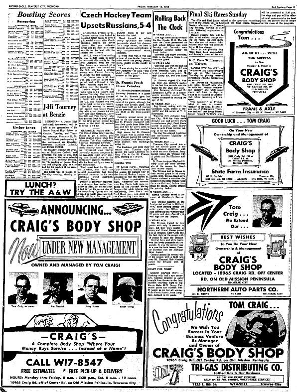 craig's body shop, brad wheat, old mission peninsula, old mission, old mission michigan, old mission gazette, northwest michigan, peninsula township, craig road