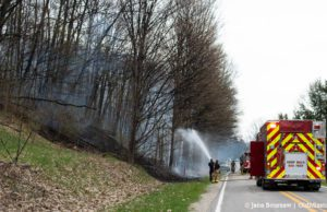 peninsula fire department, fire, wildfire, old mission peninsula, omp, old mission, old mission michigan, peninsula township, smokey hollow road, old mission gazette, old mission news
