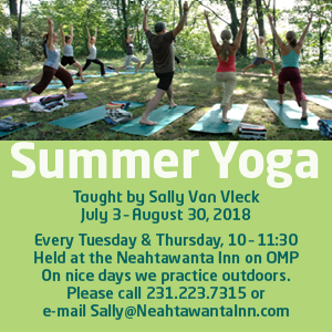 neahtawanta inn, sally van vleck, yoga classes, old mission peninsula, old mission, old mission michigan, old mission gazette, old mission events, old mission yoga, peninsula township