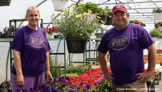 sonja richards, bret richards, harbor view nursery and lavender farm, old mission peninsula, old mission people, old mission, old mission michigan, old mission gazette