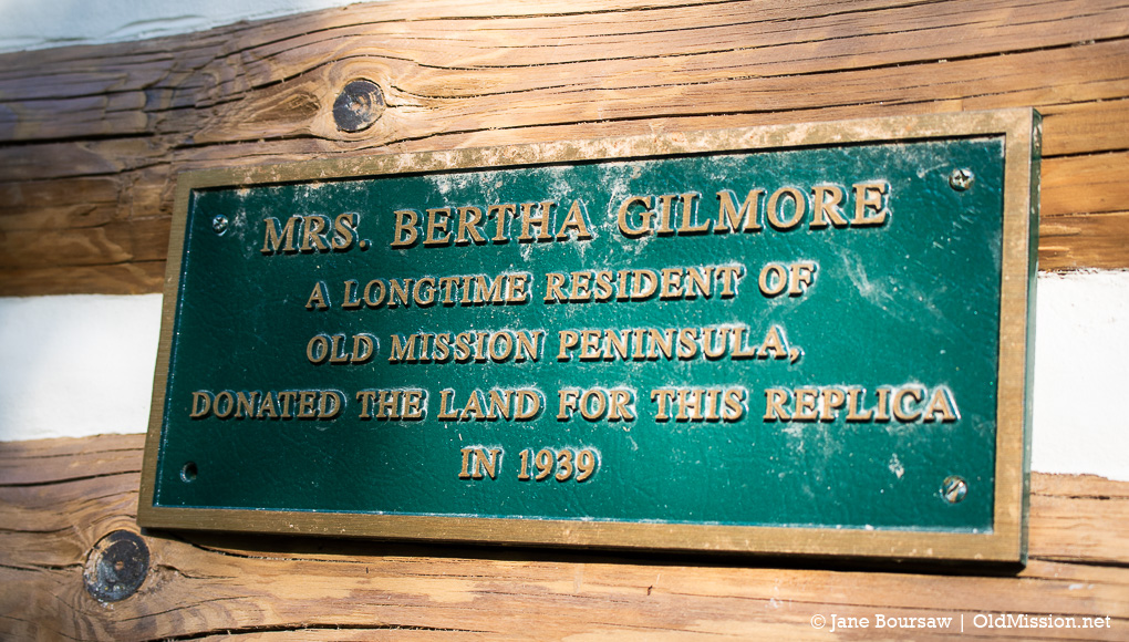 bertha gilmore, old mission log church, old mission gazette, old mission peninsula, connie sargent, old mission history, miles gilmore, nellie gilmore, peninsula township