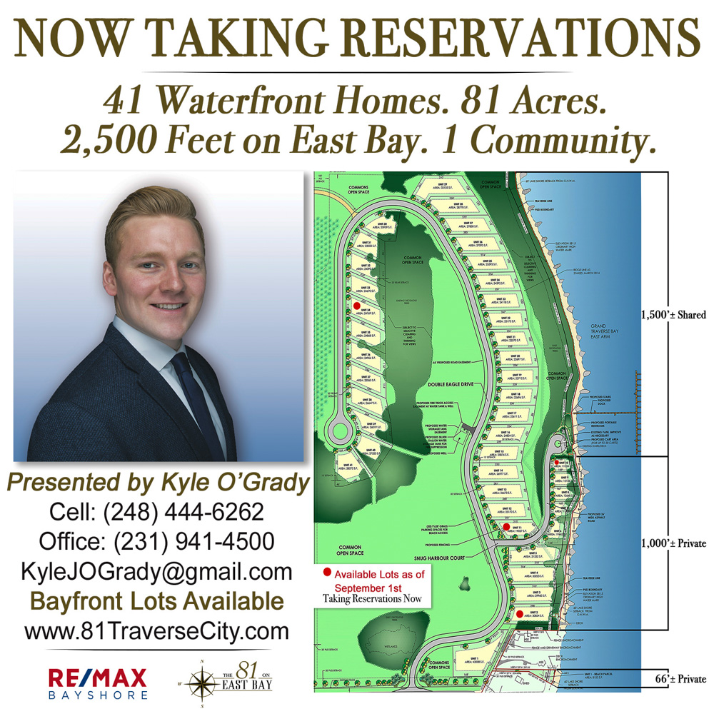 81 on East Bay, old mission peninsula, old mission, old mission michigan, peninsula township, old mission real estate, kevin o'grady, kyle o'grady, old mission news, insight building company