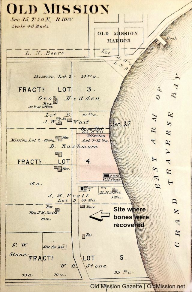 old mission plat map, old mission map 1800s, old mission peninsula, old mission gazette, old mission, old mission history, old mission history, peninsula township, human bones found in old mission