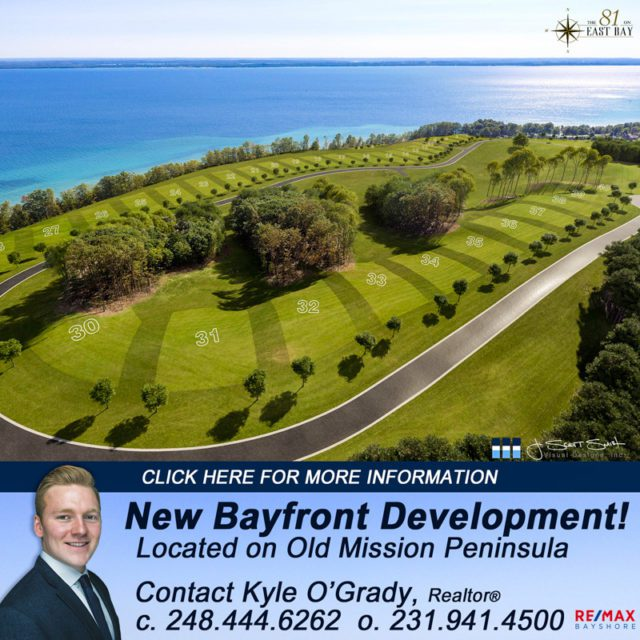 81 on East Bay, old mission peninsula, old mission, old mission michigan, peninsula township, old mission real estate, kevin o'grady, kyle o'grady, old mission news, insight building company, old mission developments