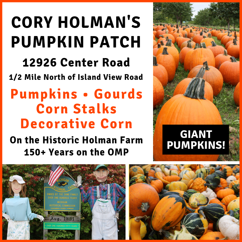 cory holman's pumpkin patch, old mission pumpkins, old mission peninsula, old mission farm stands, cory holman, holman farm, old mission gazette, old mission, old mission michigan, peninsula township