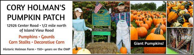 cory holman, cory holman's pumpkin patch, old mission gazette, old mission peninsula, old mission, old mission michigan, peninsula township, old mission peninsula pumpkins, halloween