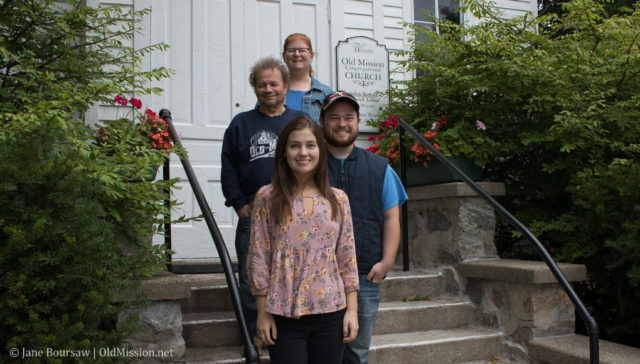 tim boursaw, jane boursaw, will boursaw, marissa boursaw, church photo, old mission congregational church, anniversary photo, giving, giving tuesday, old mission gazette, old mission peninsula, old mission, old mission michigan, old mission news, old mission photos