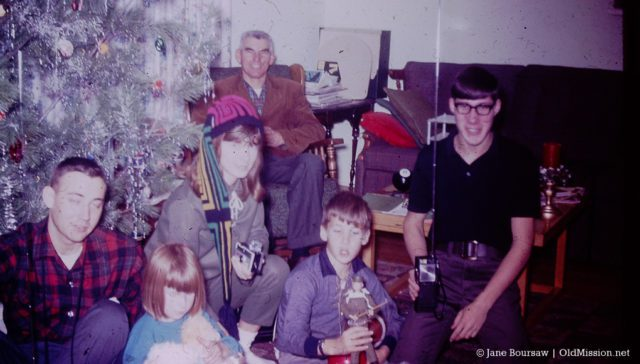 walter johnson, mary johnson, ken miller, jane louise boursaw, ward johnson, dean johnson, carolyn lewis, old mission, old mission history, 1966, old mission peninsula, peninsula township, christmas