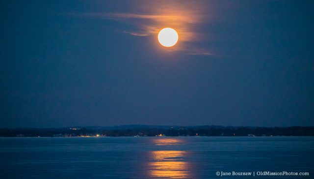 Super Moon Over East Bay on the Old Mission Peninsula