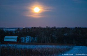 Super Moon Over Brys Estate Winery & Vineyard on the Old Mission Peninsula