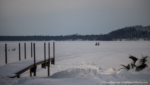Ice Fishing in Bowers Harbor on the Old Mission Peninsula