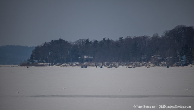 Ice Fishing off Neahtawanta Point on the Old Mission Peninsula