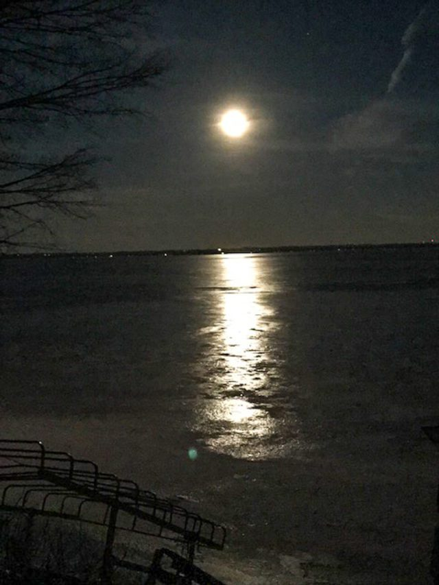 Reader Photos: Super Moon on the Old Mission Peninsula