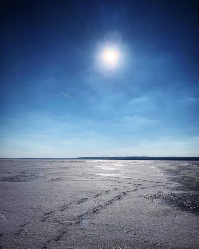 Reader Photos: Frozen West Bay and Old Mission Peninsula by Lisa Flaska Erickson