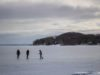 Ice-Skaters at Haserot Beach in Old Mission Harbor on the Old Mission Peninsula