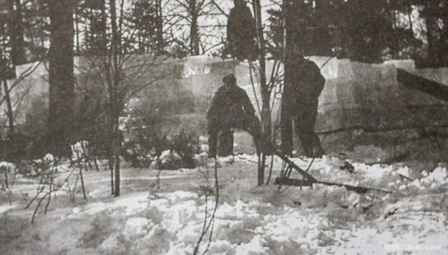 1943-1945, Cutting Ice in Old Mission Harbor: Chum Reay's Ice House