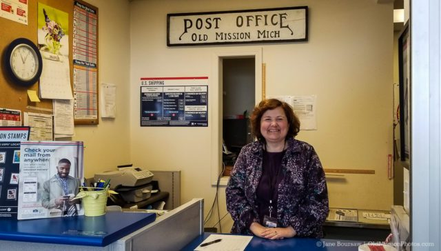 Lisa Kauffmann, New Postmistress at the Old Mission Post Office