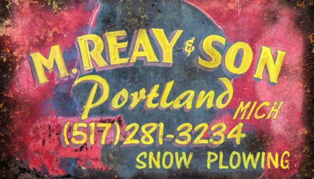 Matt Reay's Snowplowing Truck Sign